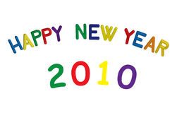 Happy new year. Colorful happy new year sign in 3D stock illustration
