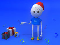 Happy new year. The 3d new year character Royalty Free Stock Image