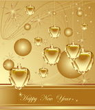 Happy New Year. Golden Happy New Year background Royalty Free Stock Photo