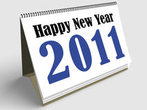 Happy New Year. First sheet of a calendar wishing a Happy new year 2011 Royalty Free Stock Image