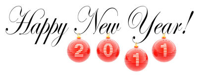 Happy New Year. 2011 (decor for Christmas card Royalty Free Stock Images
