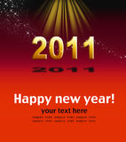 Happy new year. To 2011 Stock Images