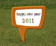 Happy new year. 2011 message background stock illustration