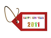 Happy new year. 2011 message background vector illustration