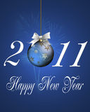 Happy New Year. Greeting card of background Stock Photos