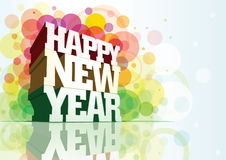Happy New Year!. Happy New Year 3d message composition. Elements are seperated layer in Eps10 file stock illustration