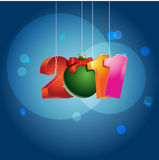 Happy New Year. Illustration which can be used for greeting New Years card Royalty Free Stock Images