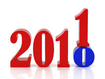 Happy new year. 2011. High resolution 3d illustration. Calendar royalty free illustration
