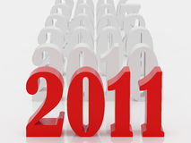 Happy new year. 2011. High resolution 3d illustration. Calendar stock illustration