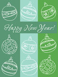 Happy new year. Greetings card vector illustration