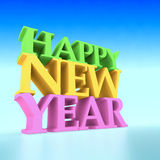 Happy New Year. 3d text illustration Royalty Free Stock Image
