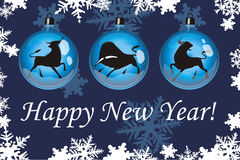 Happy New Year 2 stock images