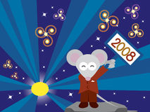 Happy New Year 2008. Celebrating 2008, Year of the Mouse Stock Photos