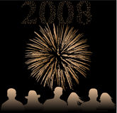 Happy new year 2008. Vector work Royalty Free Stock Photography