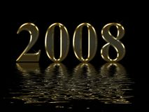 Happy New Year 2008 Stock Photos