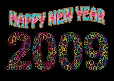 Happy New Year 2009. Colorful vibrant Happy New Year 2009 greetings Royalty Free Stock Photo