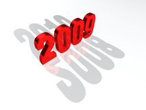 Happy New Year 2009. The list of New Years in red - 2008, 2009, 2010 stock illustration