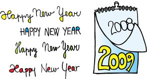 Happy new year 2009. On white background. vector image Royalty Free Stock Photos