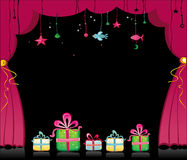 Happy new year 2009. Happy new year image with magical theater curtain. To see similar stuff, please visit my gallery vector illustration