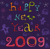 Happy new year 2009 Stock Images