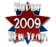 Happy New Year 2009. A Happy new year illustration for 2009 in red and blue Stock Image