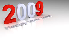 Happy New Year 2009. 3D render - Happy New Year 2009 Royalty Free Stock Photography