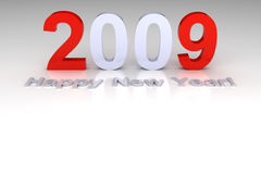 Happy New Year 2009. 3D render Royalty Free Stock Photos