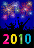Happy new year 2010. Illustration of a Happy new year 2010 placard Royalty Free Stock Photography