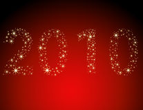 Happy New Year 2010. Happy New Year gold and red background Royalty Free Stock Photo