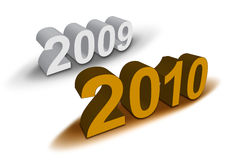 Happy New Year 2010. 2010 in 3D Illustration with shadow royalty free illustration