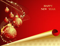 Happy New Year 2010. New Year background with stars Royalty Free Stock Image