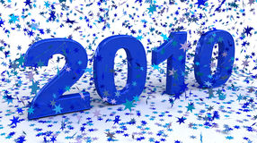 Happy New Year 2010. High quality 3d render Stock Image