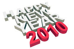 Happy New Year 2010. 3D rendered Illustration.Happy New Year 2010 Royalty Free Stock Photo
