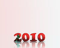 Happy New Year 2010. A new year background with 3d numbers. Numbers are decorated with christmas background stock illustration