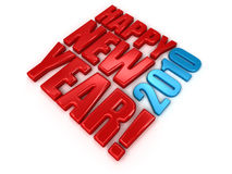 Happy New Year 2010. High quality 3d render Stock Photo