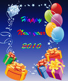 Happy new year 2010 Stock Photos