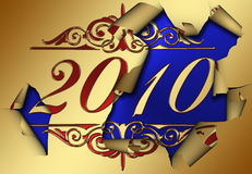 Happy New Year 2010. Welcome the New Year 2010 old year Goodbye Royalty Free Stock Photography