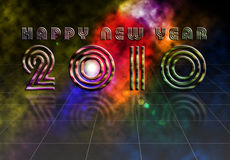 Happy New Year 2010. Greetings background vector illustration