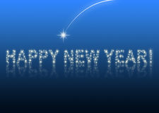 Happy new year 2010 blue star. Happy new year blue background royalty free illustration