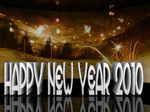 Happy new year 2010 illustration. This is a happy new year illustration with panorama vector illustration