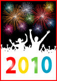 Happy new year 2010 Placard. Illustration of a Happy new year 2010 placard Royalty Free Stock Photos