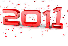 Happy New Year 2010 to 2011 Royalty Free Stock Photography
