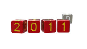 Happy New Year 2011 with 0 Stock Images