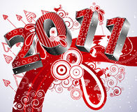 Happy new year 2011. Festive Winter Type for the year 2011 stock illustration