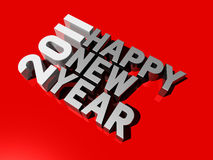 Happy new year 2011. Three dimensional 2011 happy new year message royalty free illustration