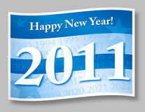 Happy new year 2011. Flag illustration Royalty Free Stock Photography