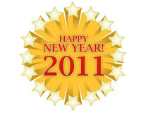 Happy New Year 2011. Happy new years 2011 logo isolated over white background stock illustration