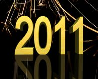Happy New Year 2011. 3d illustration Stock Images