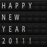 Happy New Year 2011. Airport board with congratulation Happy New Year 2011 Stock Photography