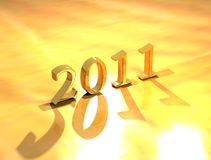 Happy New Year 2011. Happy New Year text 2011 Royalty Free Stock Photo